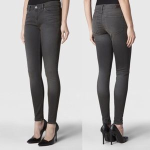 All Saints. Ashby washed grey skinny jeans